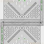 Eigen ontwerp: Geurzakje of tasje, : s'Gravenmoers techniek. Contourdraden, naar eigen inzicht mee klossen Aantal paren ± 54 paar. Garendikte linnen 80/2 of vergelijkbaar.